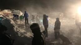 Видео сместа схода лавины нагорнолыжной базе под Красноярском