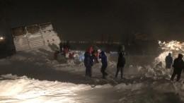 Видео спасательной операции под Красноярском, где лавина накрыла шесть домов