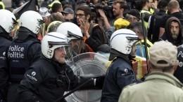 Протесты против произвола полиции вБрюсселе переросли вбеспорядки