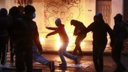 Центр Брюсселя стал похож наполе битвы после ночного погрома— видео