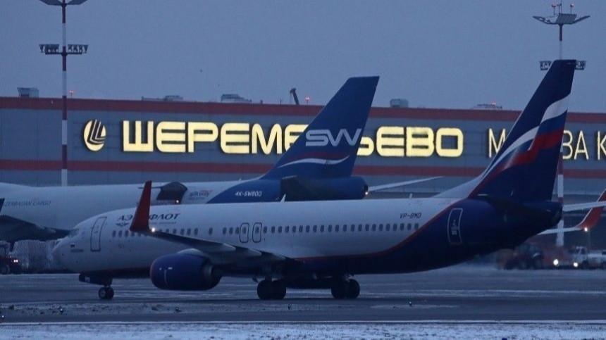 Самолет сНавальным перенаправили в«Шереметьево»
