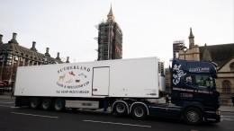 Дальнобойщики устроили акцию протеста вЛондоне из-за бюрократии Brexit