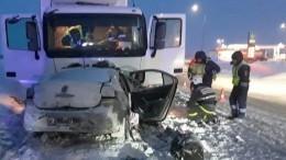 Семья сдвумя детьми погибла вДТП сгрузовиком вБашкирии— видео