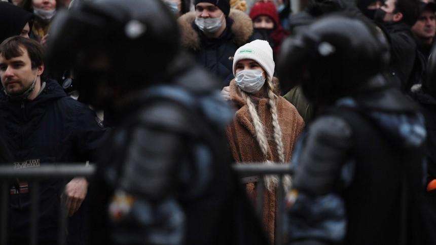 Незаконные акции протеста насеверо-западе России прошли относительно спокойно