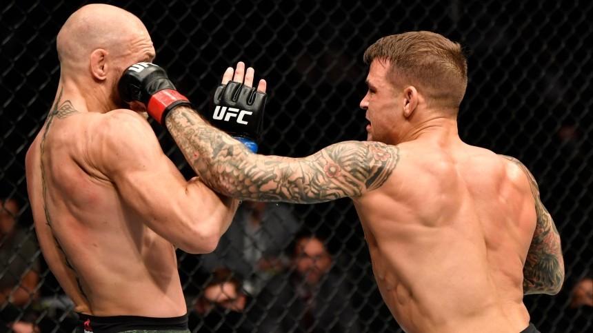 UFC опубликовал видео победного нокаута Порье вбою сМакгрегором