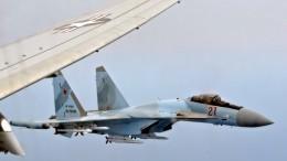 Видео: летчики ВКС провели тренировку наистребителях Су-35 всложных условиях