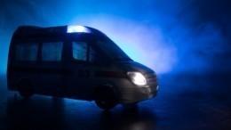 Пассажирский автобус влетел вотбойник вТамбовской области— видео