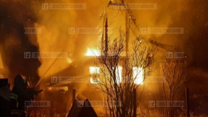 Фото: жуткий пожар вчастном доме вПодмосковье унес жизни двух человек