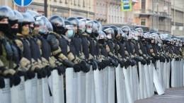 Нападения наОМОН ипровокации: Итоги несанкционированных акций вРоссии