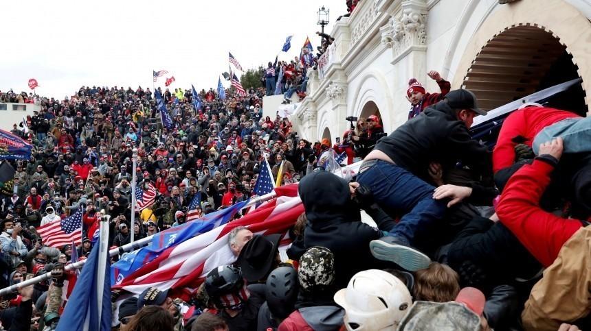 «Сильный удар подемократии США»— Зеленский оштурме Капитолия вВашингтоне