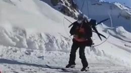 НаКрасной поляне появился «Лыжный Карлсон»— забавное видео