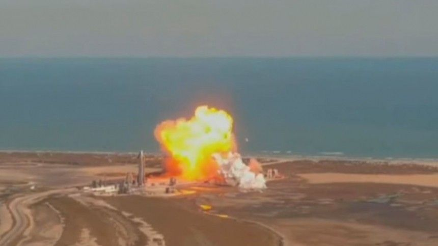 Прототип Starship Илона Маска взорвался при испытаниях— видео