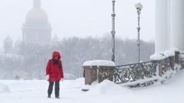 Циклон «Квирин» принес вПетербург сильный снегопад ипробки вдевять баллов