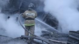 Предполагаемых виновников пожара наскладе запчастей задержали вКрасноярске