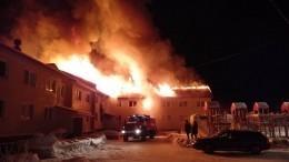 Мощное пламя охватило жилой дом вМурманской области— видео