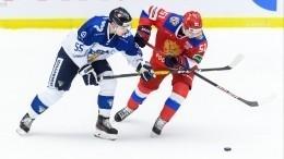 Сборная РФодолела команду Финляндии встартовом матче Шведских хоккейных игр