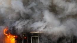 Взрыв ипожар произошли наскладе вКрасноярске