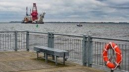 Строительство «Северного потока— 2» вводах Дании остановлено