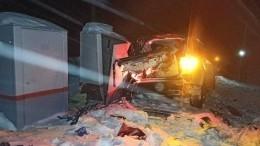 Капот всмятку: кадры сместа страшного ДТП споездом под Нижним Новгородом