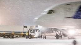 Больше ста рейсов отменено изадержано вМоскве из-за сильного снегопада