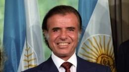 Умер экс-президент Аргентины Карлос Менем
