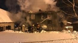 Кадры сместа пожара вКирове, унесшего жизни пяти человек
