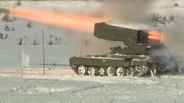Видео: военные отработали стрельбу изогнеметных систем «Солцепек» вЛенобласти