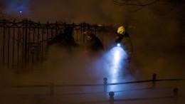 Момент мощного прорыва трубы вПетербурге попал навидео