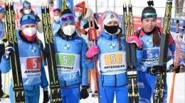 Российские биатлонистки несмогли побороться замедали вэстафете ЧМ