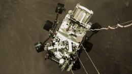 НАСА опубликовало видео посадки ровера Perseverance наповерхность Марса