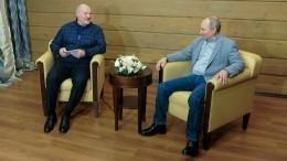 Видео: встреча Путина иЛукашенко вСочи длилась более шести часов