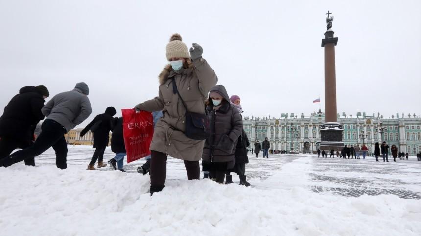 Метель напраздник: петербуржцев предупредили осильном снегопаде 23февраля