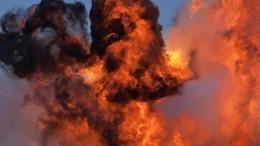 Кадры сместа взрыва газопровода вОренбургской области
