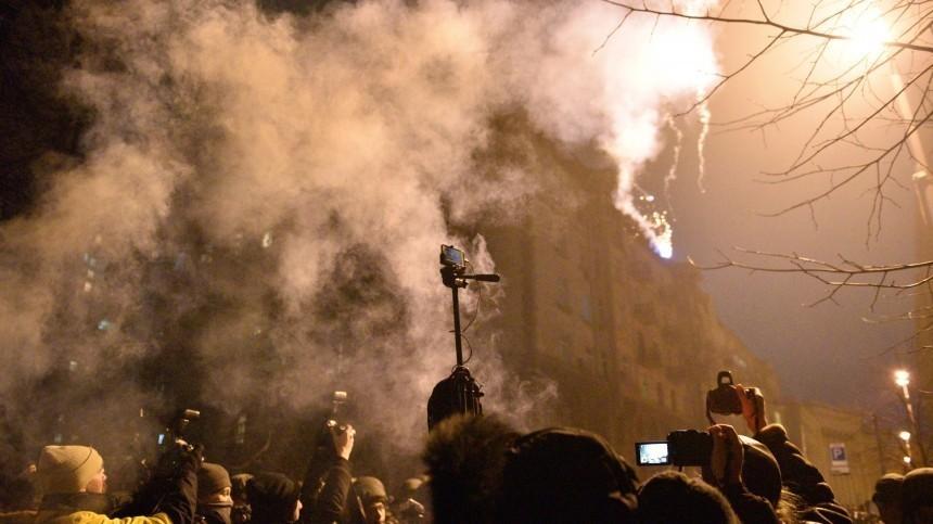 Встычке снационалистами уофиса Зеленского пострадали 27 силовиков