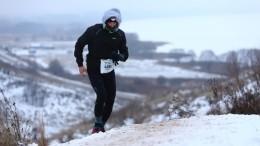 Россиянин пробежал 66 километров позамерзшему озеру ипрославился всети