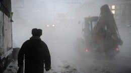 Видео: центр Петербурга окутал туман из-за коммунальной аварии