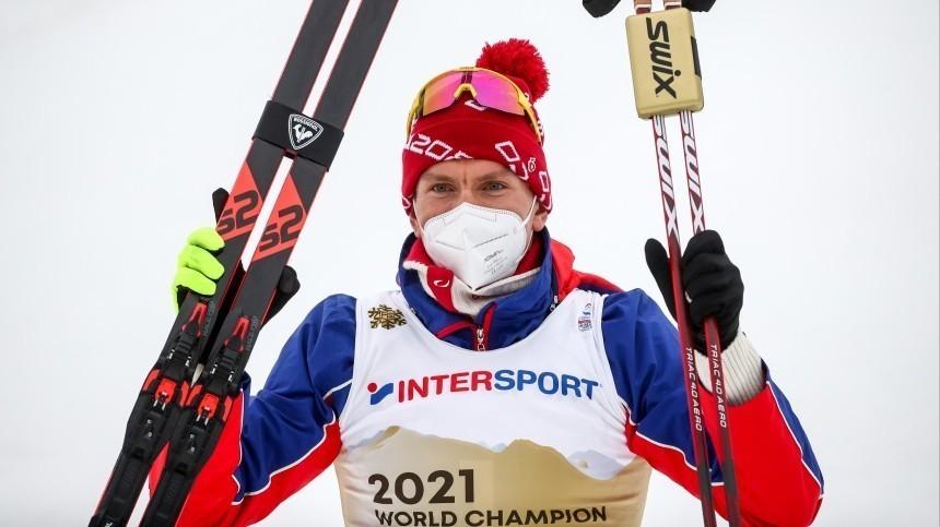 Александр Большунов впервые стал чемпионом мира вскиатлоне