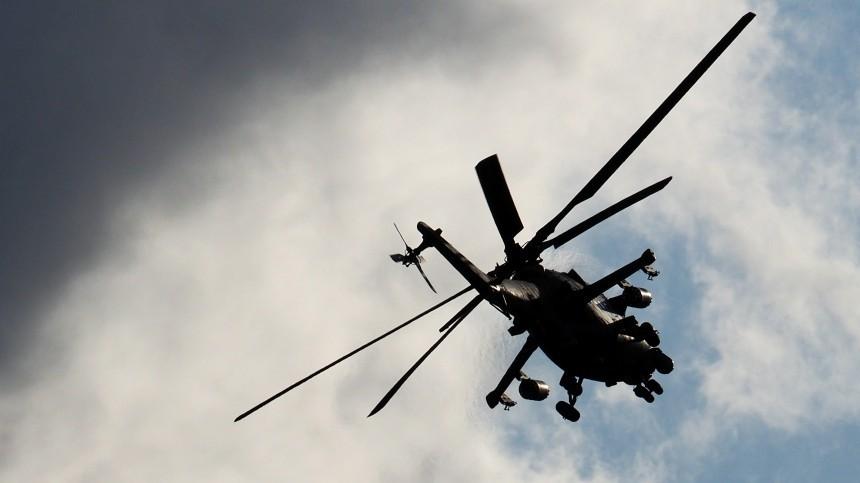 Российский вертолет совершил вынужденную посадку насеверо-востоке Сирии