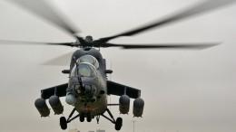 Экипаж вертолета Ми-35, вынужденно севшего вСирии, доставили нааэродром