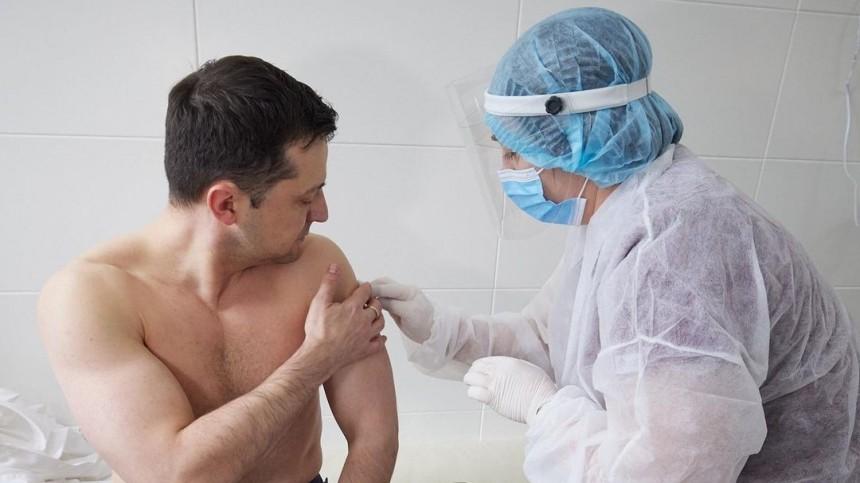Зеленский вакцинировался отСОVID-19 индийским препаратом Covishield