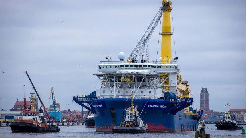 «Академик Черский» возобновит укладку труб «Северного потока— 2» после испытаний