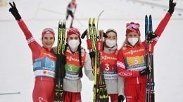 Российские лыжницы взяли серебро вэстафете чемпионата мира