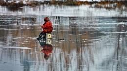 Рыбаков сотколовшейся льдины вФинском заливе спасали спомощью вертолета