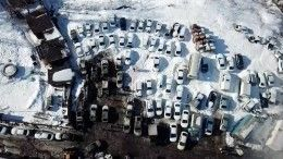 Последствия мощнейшего пожара вавтосервисе под Москвой сняли скоптера