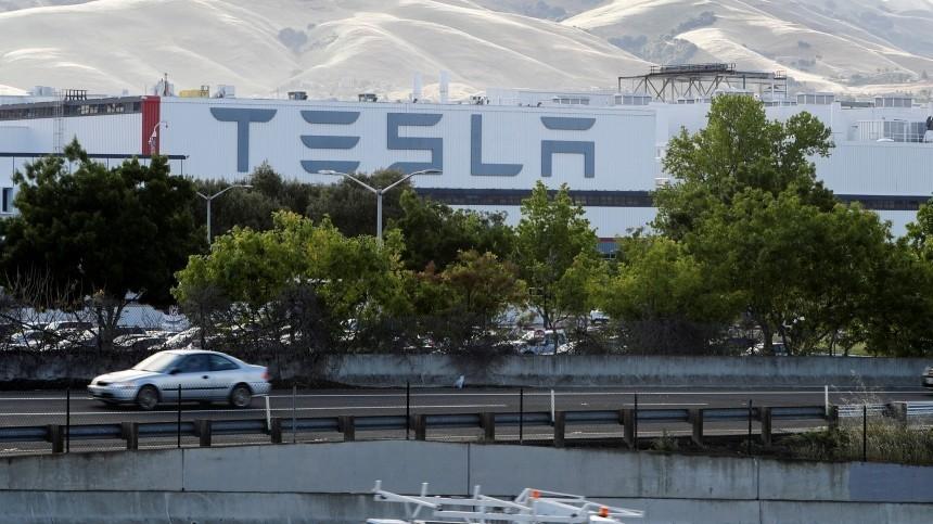 Видео: назаводе Tesla вКалифорнии произошел пожар