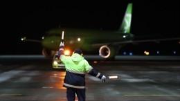 Улетевшего изМосквы вНовосибирск самолета отказал двигатель