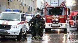 Взрыв газового баллона споследующим пожаром произошел вдоме центре Москвы