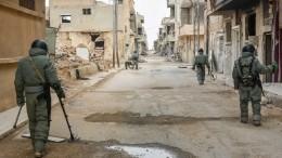 Российские саперы почти круглосуточно работают вСирии