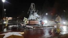 Виноваты дети? Памятник воину-освободителю выгорел дотла вТатарстане— видео