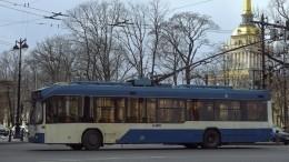 «Непоказывайте Илону Маску»: вПетербурге заметили «танцующий» троллейбус
